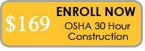 button to enroll in 30 hour osha construction class