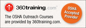 Graphical link to 360 training's OSHA outreach courses