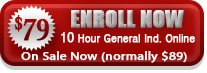 Button to enroll in OSHA 10 online for general industry