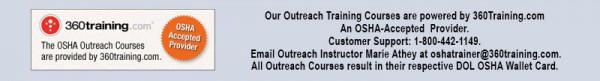 OSHA Outreach Training Course Informataion
