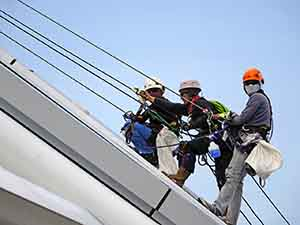 Fall protection failure was cited by OSHA in NJ Roofing Company serious violations.
